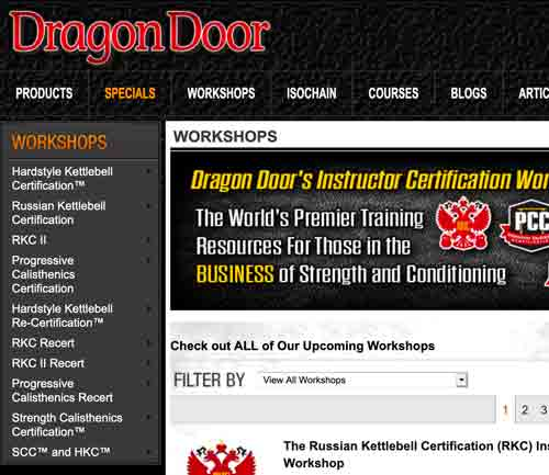 DragonDoor Workshops